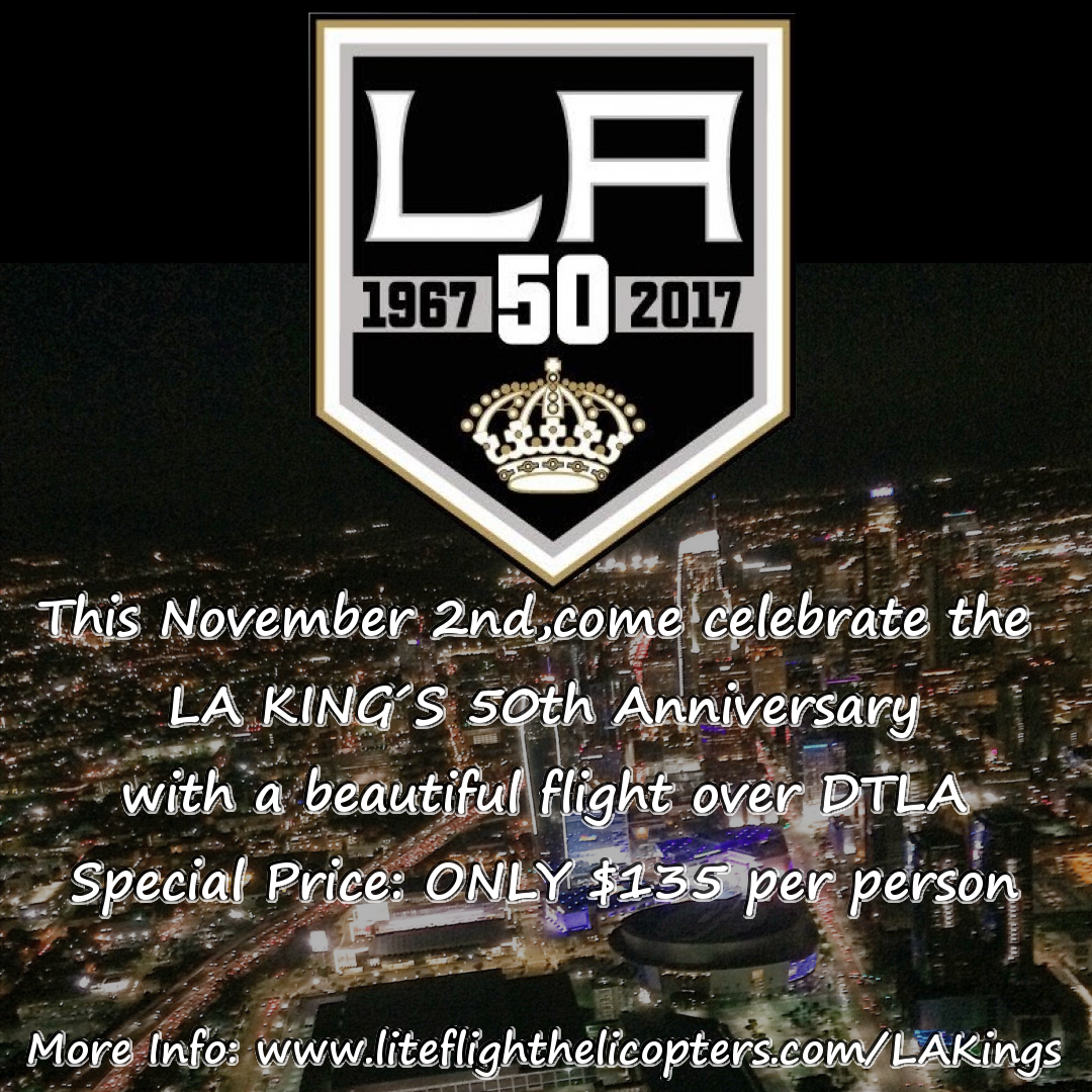 LA King's 50th Year Anniversary Special Helicopter Flight